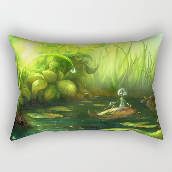 Solitude Through the Leaves Rectangular Pillow