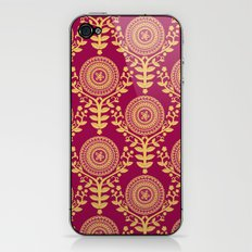Paper Doily (RED) iPhone & iPod Skin