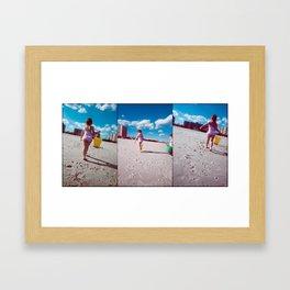 Children and Buckets Framed Art Print