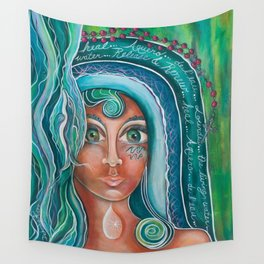LADY OF LOURDES Wall Tapestry