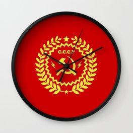 Communist Hammer & Sickle CCCP Badge Design Wall Clock
