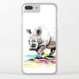Sudan the last male northern white rhino Clear iPhone Case