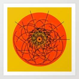 The Sun Is Making Decisions Today Art Print