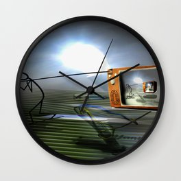 Cable TV Wall Clock