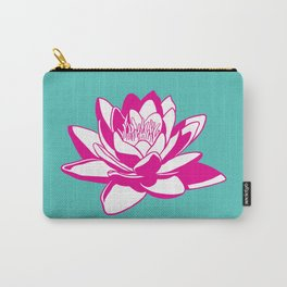 Lotus Print - Flower Wall Decor Carry-All Pouch