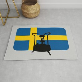 Sweden flag | Pressure stove Rug