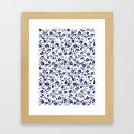 Floret Indigo Ditsy Framed Art Print
