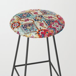 N245 - Vintage Oriental Bohemian Colored Traditional Moroccan Fabric Style Bar Stool