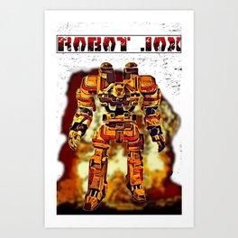 Robot Jox Art Print