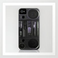Boombox iPhone4 case (follow link below for iPhone5) Art Print