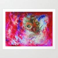 Abstract Owl Art Print