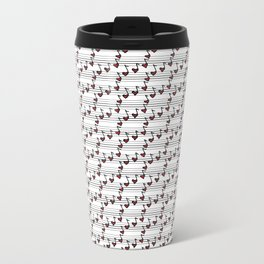 pattern with notes like hearts Metal Travel Mug