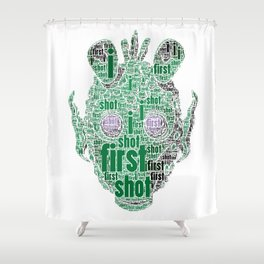 The real dark side - Greedo - I shot first Shower Curtain