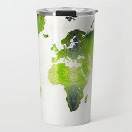 Green World Map Wall Art - Sharon Cummings Travel Mug