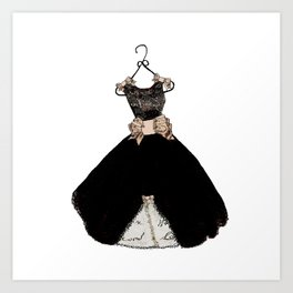 My favorite black dress Art Print