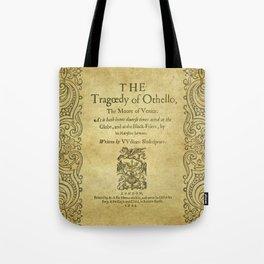 Shakespeare. Othello, 1622. Tote Bag