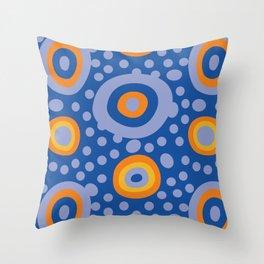 Rapsody in blue Throw Pillow