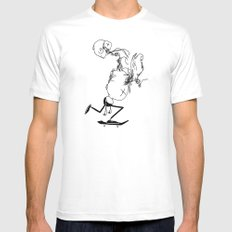 Late to go back White MEDIUM Mens Fitted Tee
