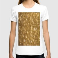 gold glitter T-shirts featuring Gold Glitter 1323 by Cecilie Karoline