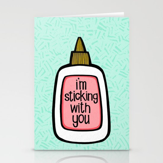 sticking with you ii Stationery Cards