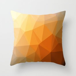 Shades Of Orange Triangle Abstract Throw Pillow