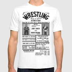 #9 Memphis Wrestling Window Card White Mens Fitted Tee SMALL