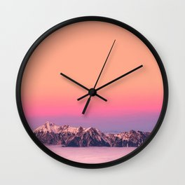 Silence over the Mountains Wall Clock