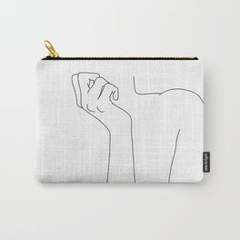 One line woman's body illustration - Corin Carry-All Pouch