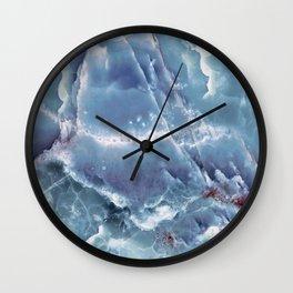 Blue onyx Wall Clock