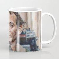 bill murray Mugs featuring Bill Murray / Ghostbusters / Peter Venkman / Close-Up by Heather Buchanan