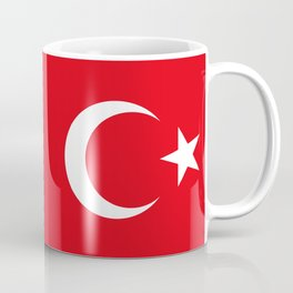 National flag of Turkey, Authentic color & scale Coffee Mug