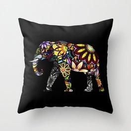 Aztec Elephant Throw Pillow