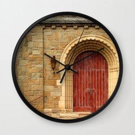 Old Church Door Wall Clock