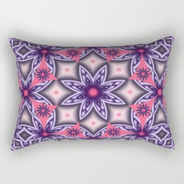 Flowers and Diamonds in purple and Pink Rectangular Pillow
