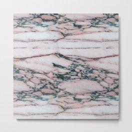 Rico Rosa Marble Metal Print