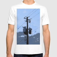 Transformer MEDIUM White Mens Fitted Tee