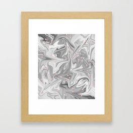 Charcoal Mask & Pimple Pink Framed Art Print