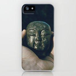buddha head in hand iPhone Case