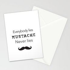 mustache never lies Stationery Cards