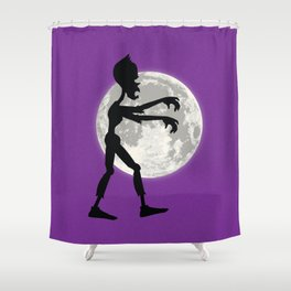 Friendly Zombie On The Go - Walk Shower Curtain