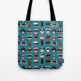Ninja Animal Gang - Blue Tote Bag