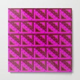 V - pattern pink Metal Print