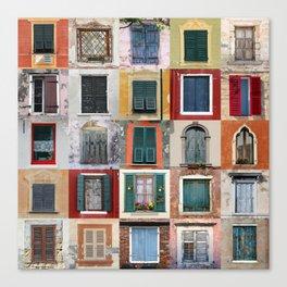 Twenty Five Windows Canvas Print