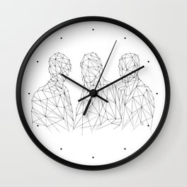 MARTIANS - white. Wall Clock