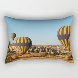 in a hot-air balloon over Cappadocia Rectangular Pillow