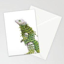 Lizard. Defoliating Stationery Cards