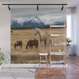 Mountain Horse - Western Style in the Grand Tetons Wall Mural