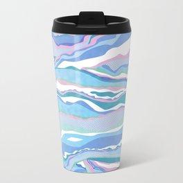 cotton candy pastel lines Travel Mug