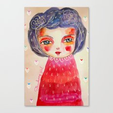 Strawberry girl Canvas Print