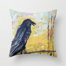 Remi the Raven Throw Pillow
